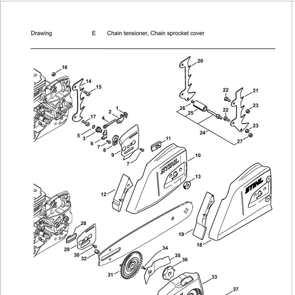 Nx Stihl 009 Chainsaw Parts Diagram Stihl Chainsaw