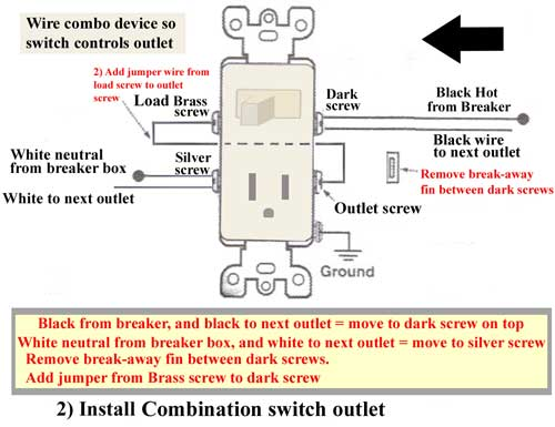 combination switch receptacle wiring diagram  lq4 coils