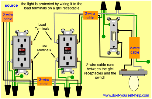mv2318 wiring diagram as well gfci wiring multiple outlets