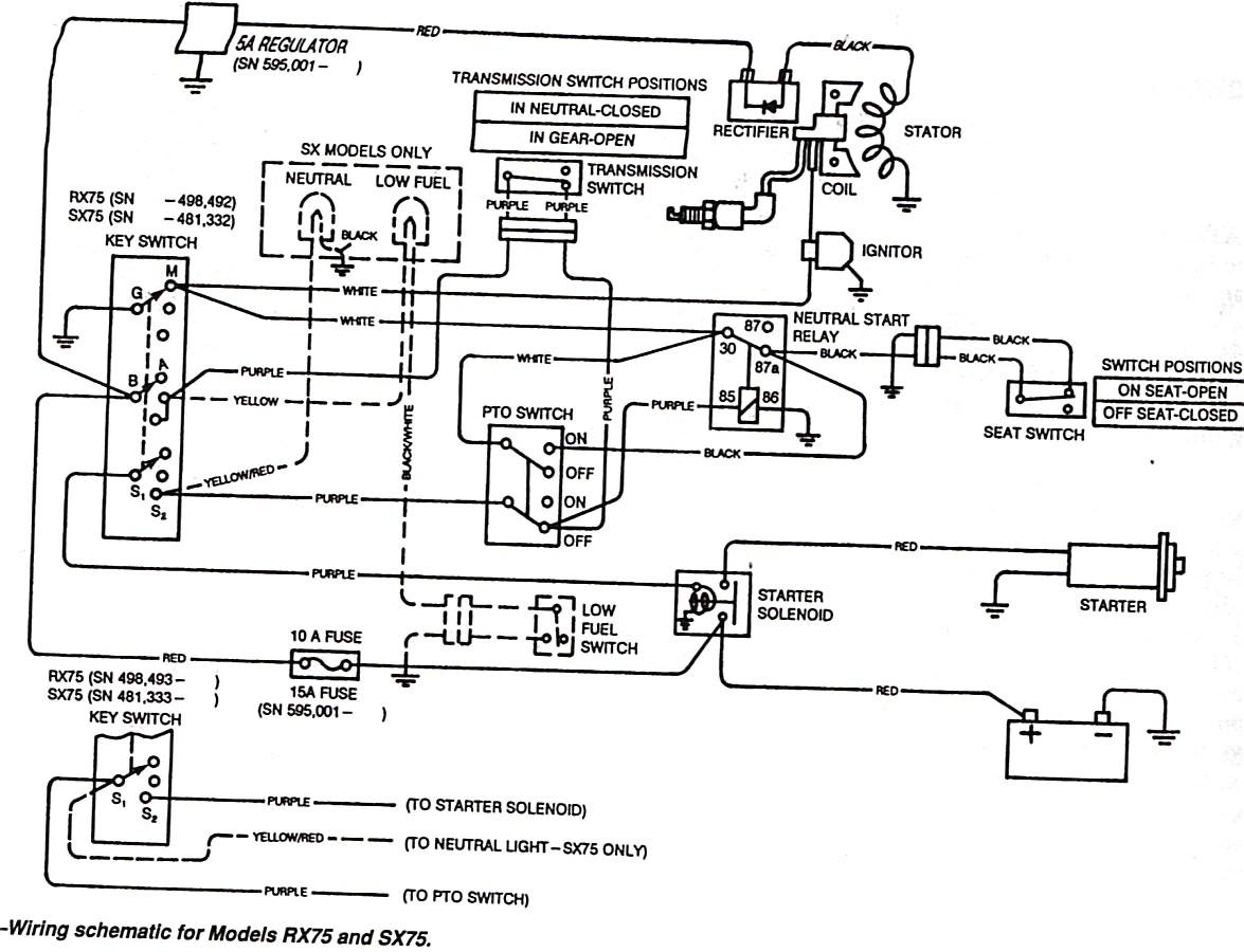 Wiring Diagram John Deere 314 Lawn Tractor