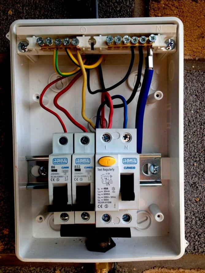 fb2146 consumer unit wiring garage wiring up a garage