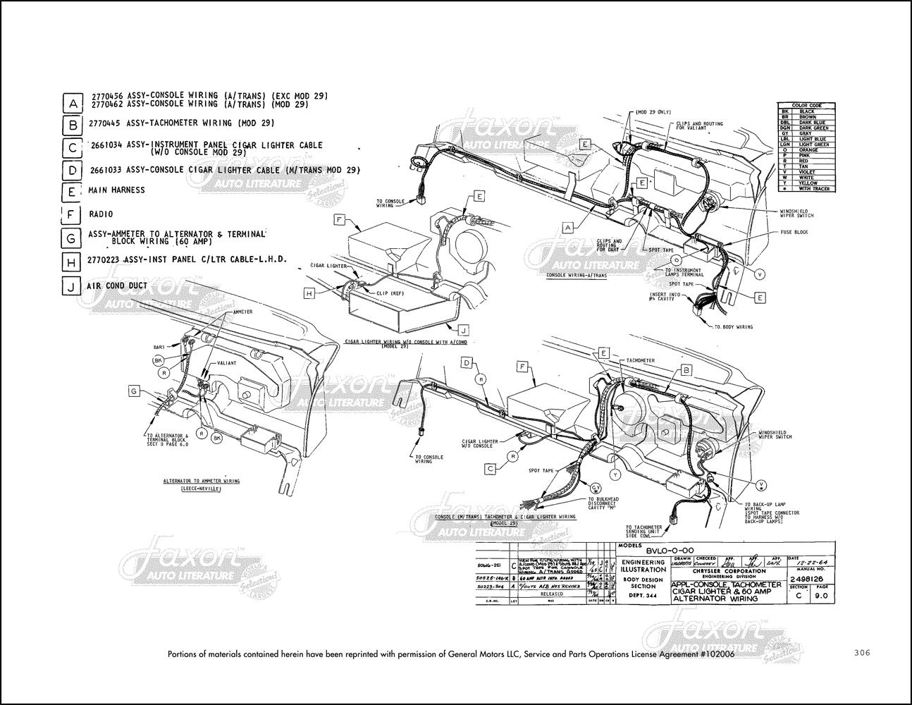 La Plymouth Valiant Or Barracuda Engine