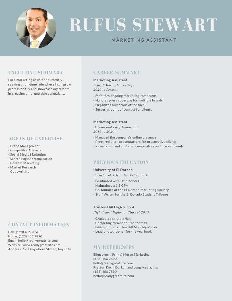 Canva Resumes  Create A Professional Cv For You Using Canva By ...