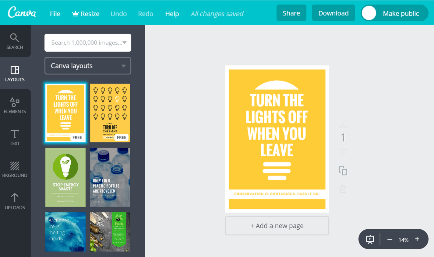 Make Posters On Save Electricity Online For Free With Canva