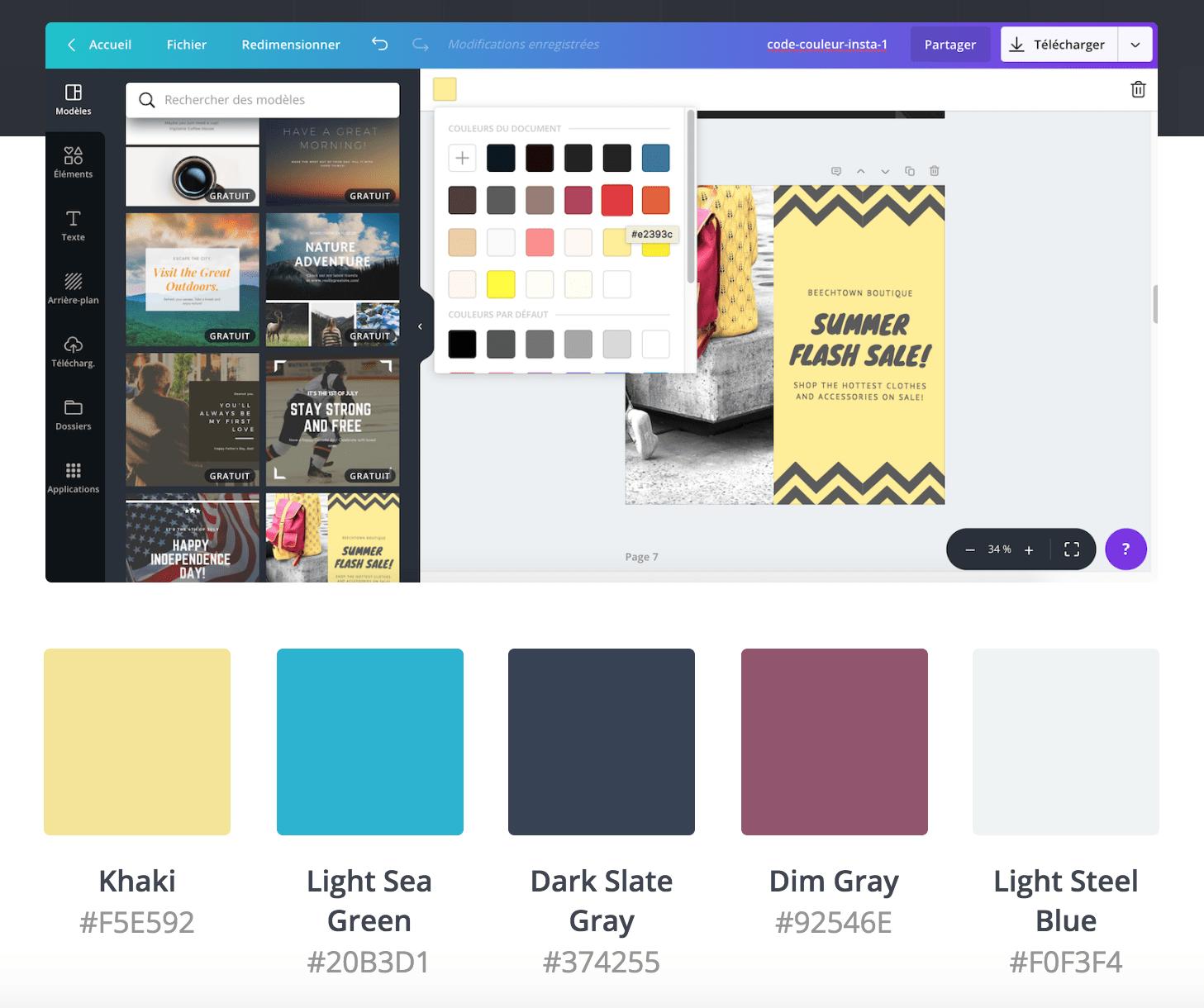 le code des couleurs codage usage