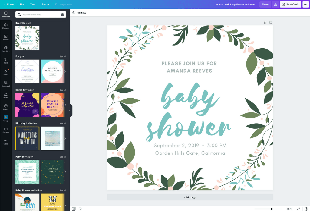 make your own baby shower invitation