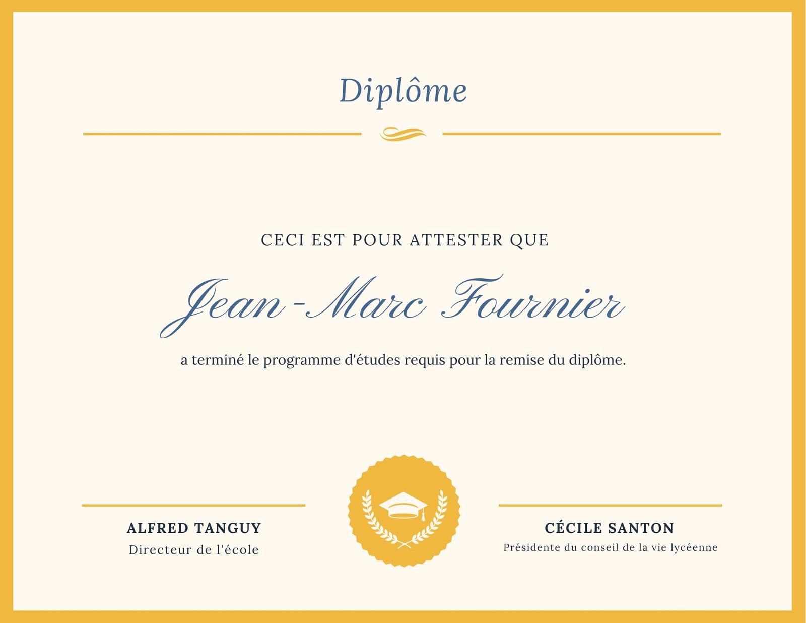 Exemple De Diplome Vierge