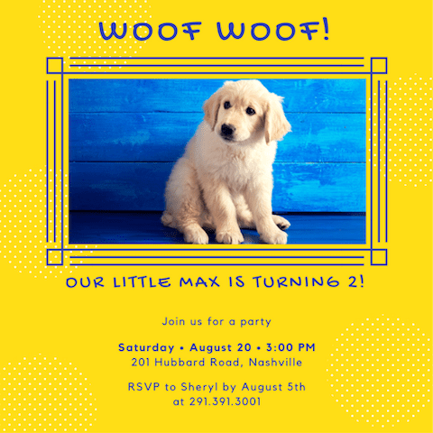 35 puppy party ideas canva
