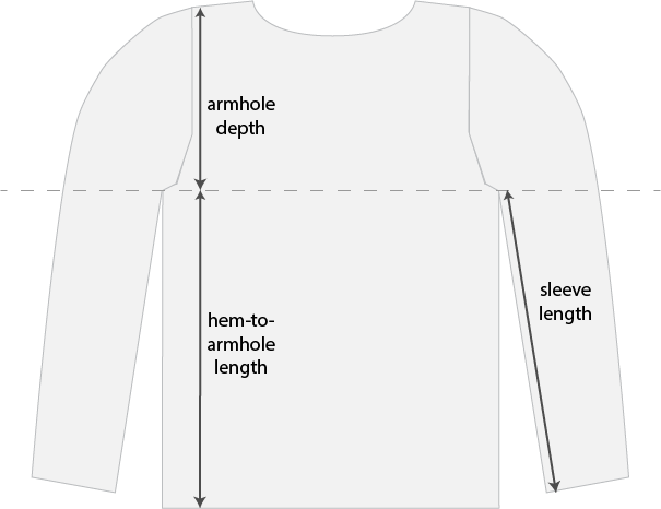 how to measure lengths on a garment