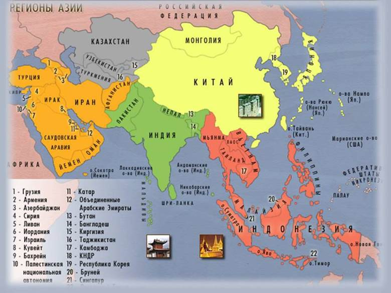 Aasian Maantieteellinen Kartta Suurina Venajina Poliittinen