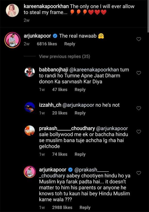 """करीना कपूर खान-तैमूर की पिक पर हेट कमेंट के साथ अर्जुन कपूर ने दिया जवाब; कहते हैं, """"अबे च ** तिये ..."""" 1"""