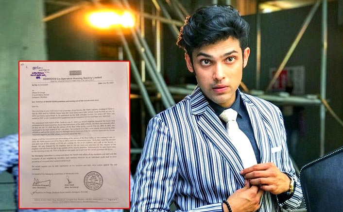 Parth Samthaan Breaks COVID-19 Rules, Society Members File Complaint Against The Actor