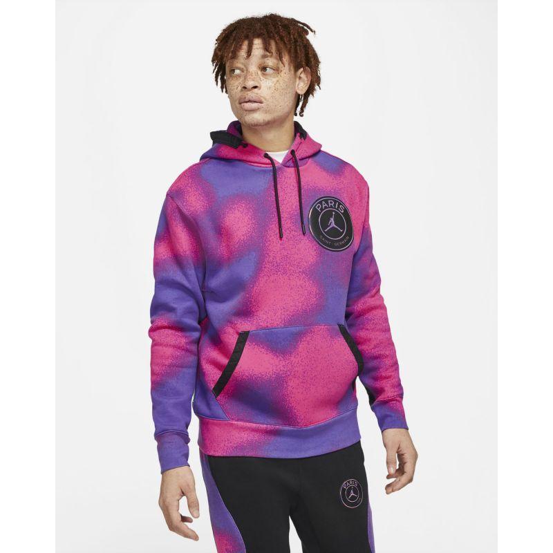 jordan x paris saint germain men s printed fleece pullover hoodie