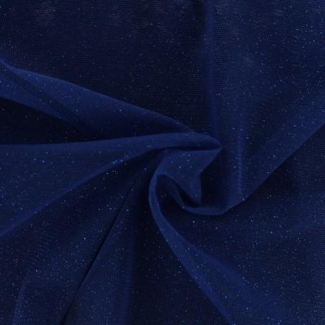 tissu tulle paillete princesse bleu d egypte x10cm