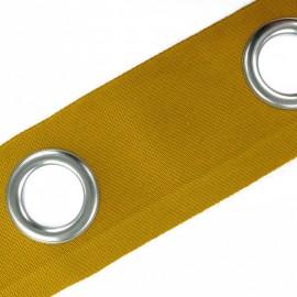 bande a oeillets color nickel mat curcuma x 18cm