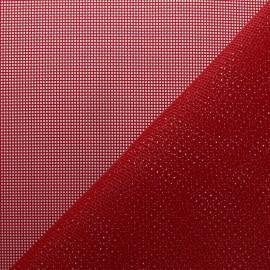 tissu toile ajouree oxa special exterieur rouge x 10 cm
