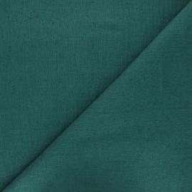 tissu lin lave thevenon vert emeraude x 10cm