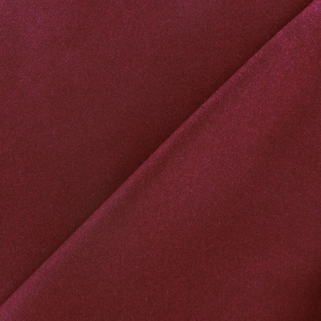 tissu drap de laine grenat x 10cm