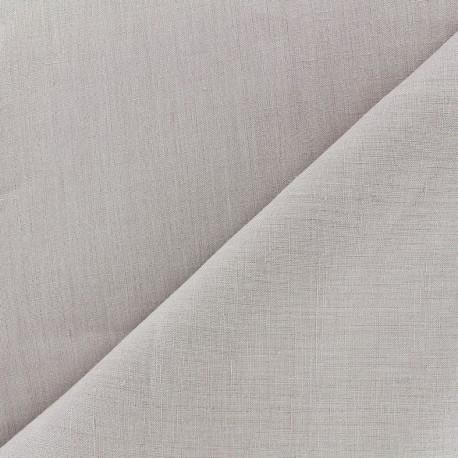 tissu lin grande largeur gris perle x 10cm