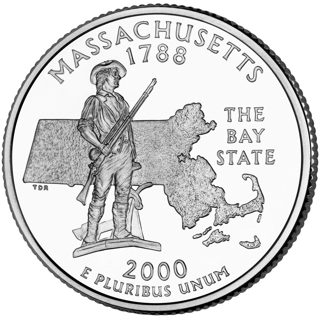 Dollar Washington Quarter Massachusetts
