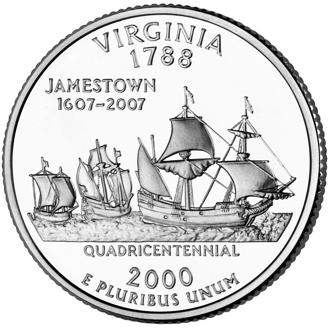 Dollar Washington Quarter Virginia