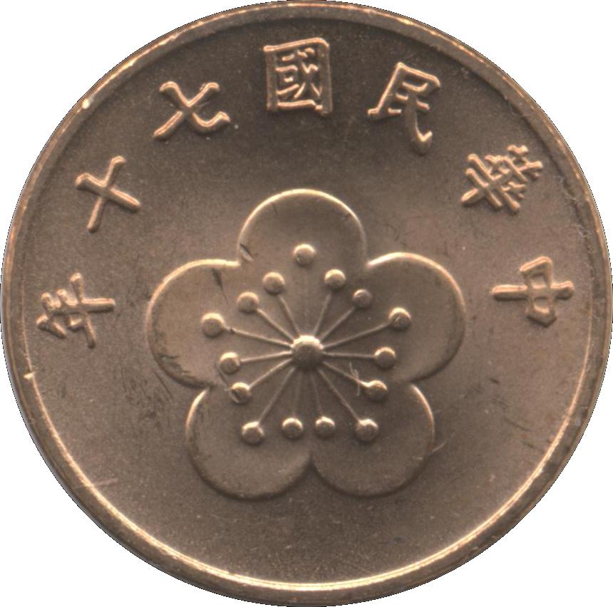 Coins China Taiwan 1981
