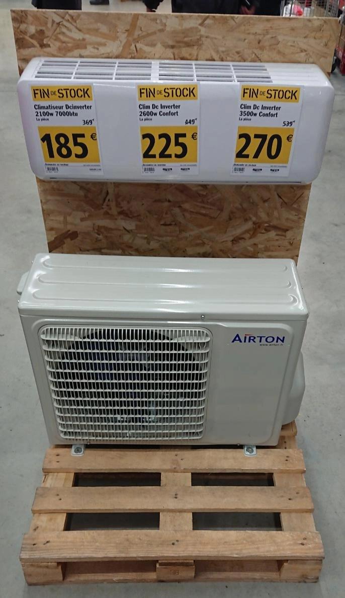 Climatiseur Reversible Airton Dc Inverter Confort 3 500w Tournon 73 Dealabs Com