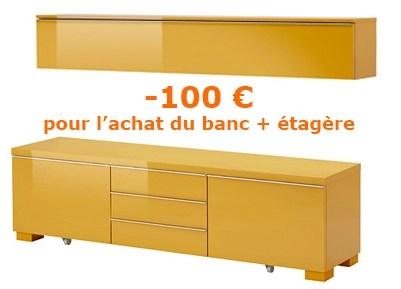 Ikea Family Etagère Et Un Banc Tv Besta Burs Dealabscom