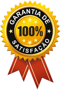 Medalha com texto garantia de satisfação 100%