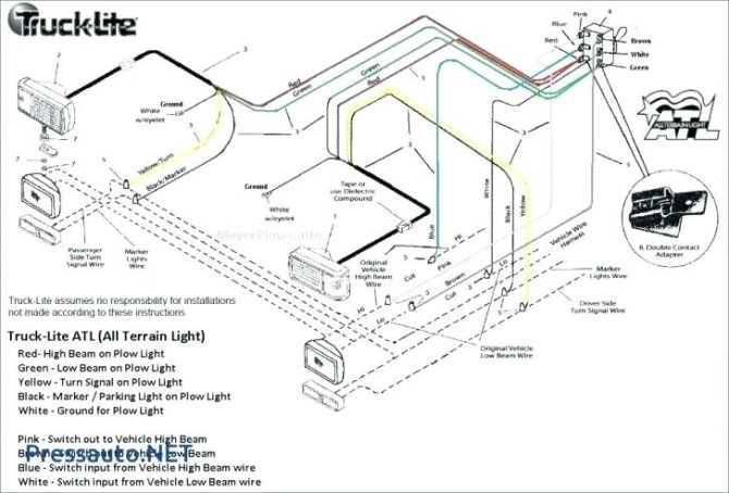 meyers plow wiring diagram for lights  pre wiring for home