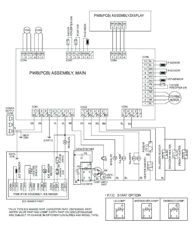 diagram kenmore elite refrigerator compressor wiring