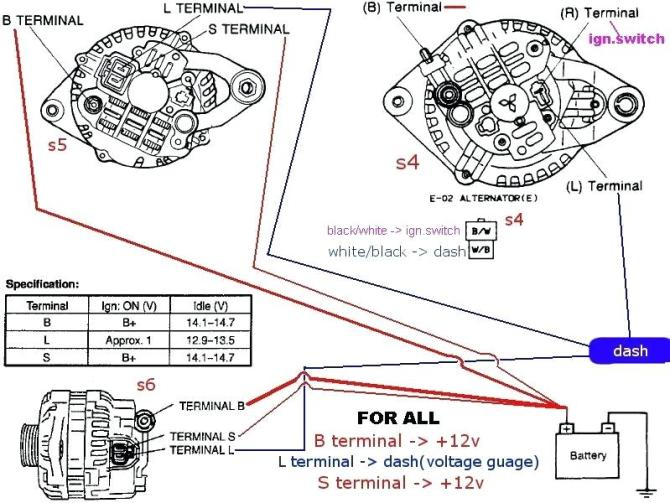 wf5503 3 wire marine alternator wiring diagram free diagram