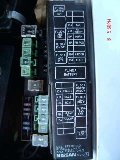 2000 nissan maxima fuse box  wiring diagrams database