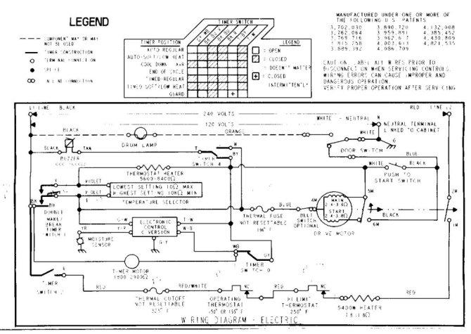 wed5100vq1 whirlpool wiring schematic  schematic wiring