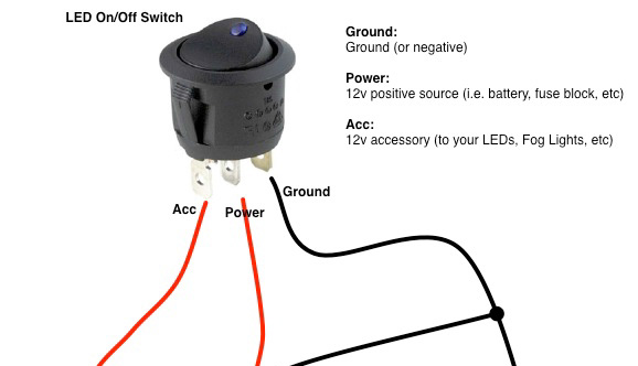on a 12v led switch wiring diagram 1993 chevy suburban