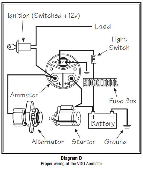 gm amp gauge wiring diagram  schematic wiring diagram