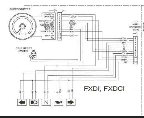 harley davidson tach wiring  description wiring diagrams