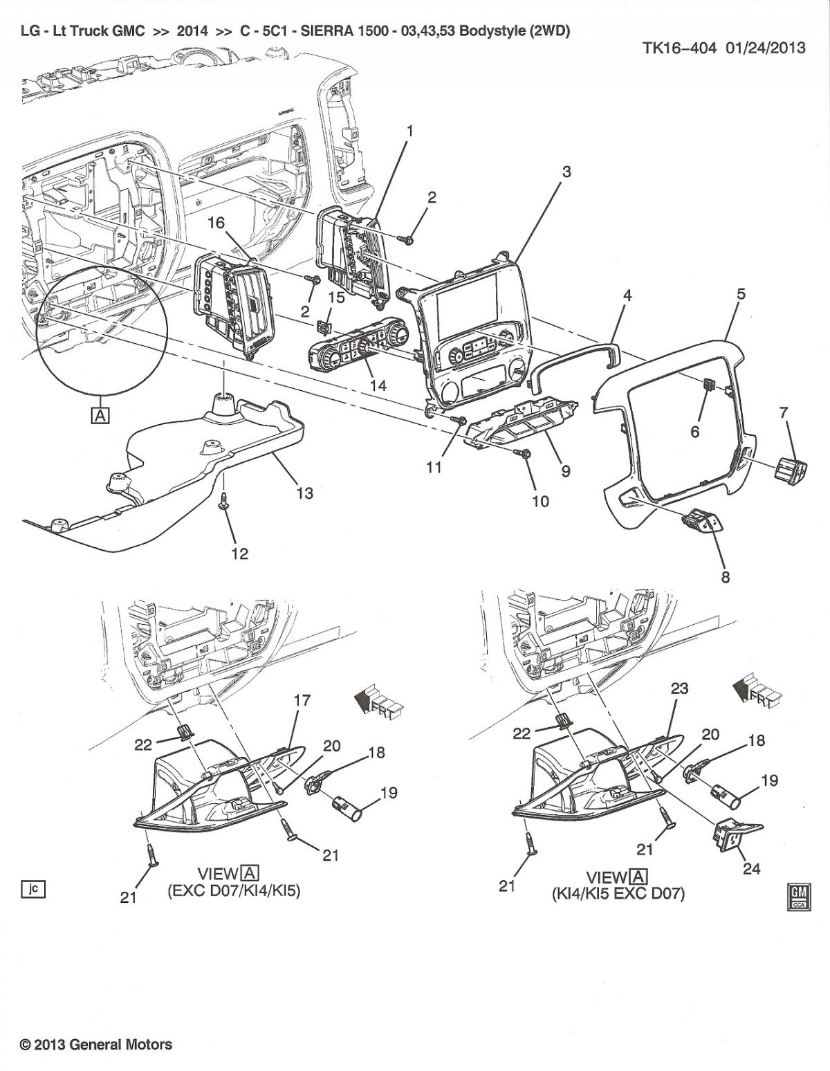 Eh Gmc Sierra Replacement Parts Motor Repalcement