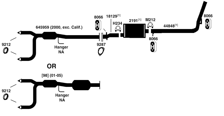 2000 chevy cavalier exhaust diagram