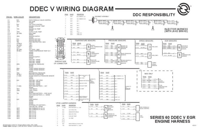 ecm detroit ddec 5 wiring diagram  85 s10 window wiring