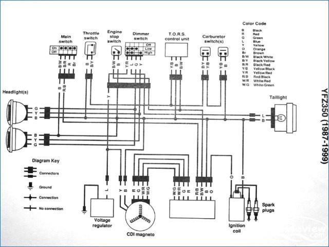 89 yamaha moto 4 wiring diagram  wiring diagram wavetools