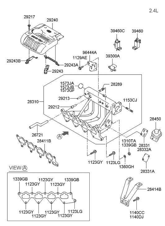 2004 hyundai santa fe engine diagram