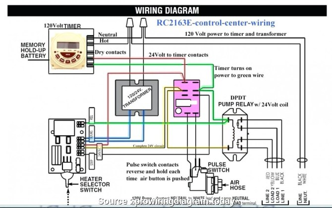 basic schematic for typical pool light wiring  two speed