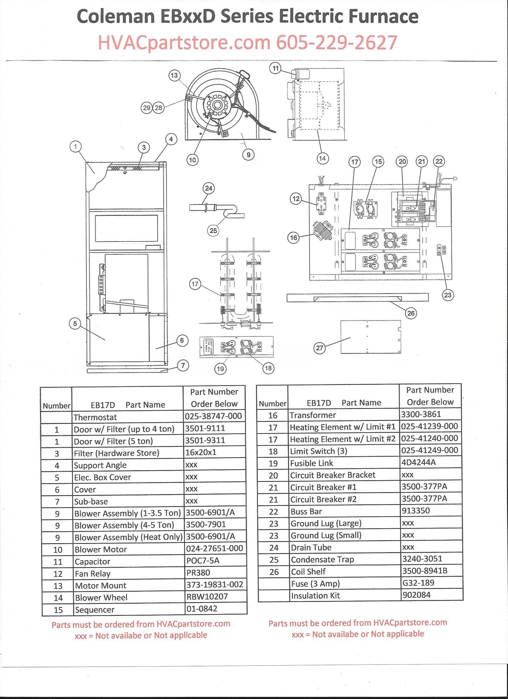 Coleman Furnace Wiring Schematics