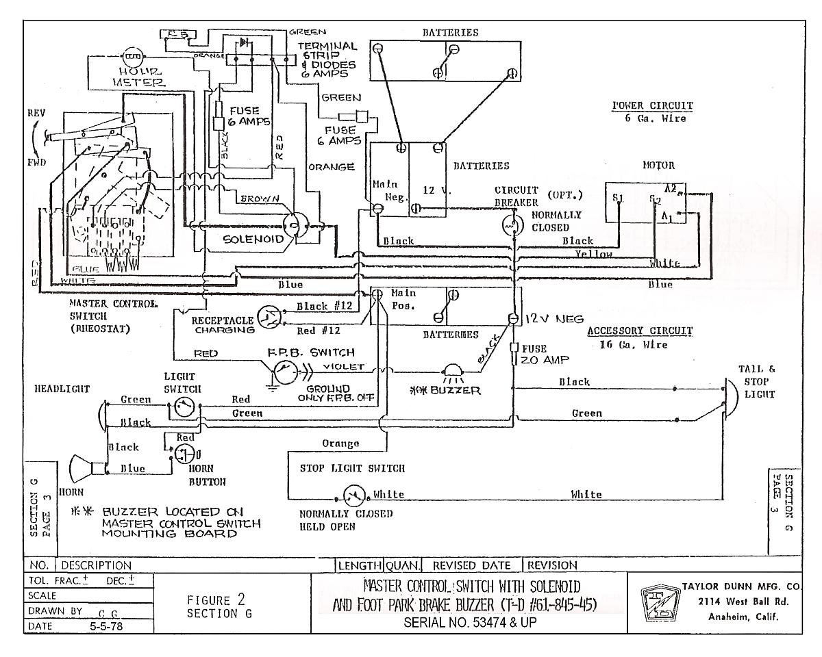 Diagram Taylor Dunn Electric Cart Wiring Diagram Full