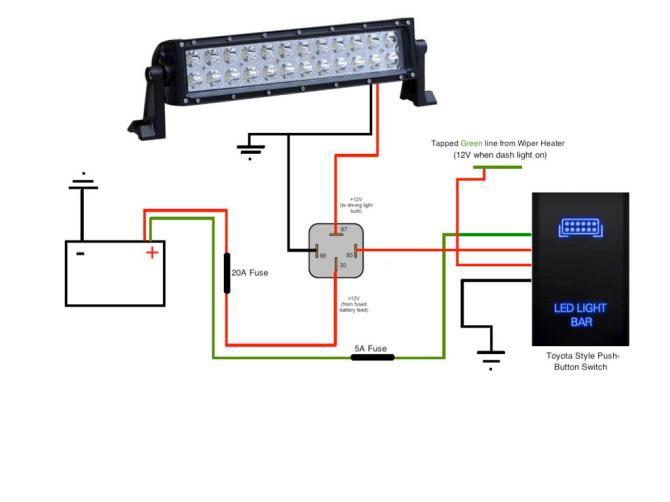 wiring diagram led light bar  1966 ford truck wiring