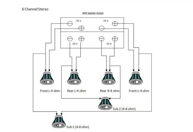 car stereo wiring diagram 6 speakers  wiring diagram for