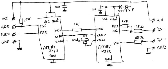 ps2 to usb adapter wiring diagram  7 pin to 4 pin wiring