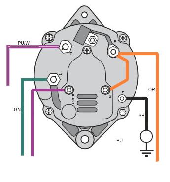 alternator wiring diagram volvo penta  center wiring