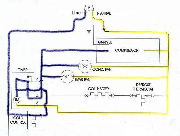 kenmore refrigerator defrost timer wiring diagram  wireless